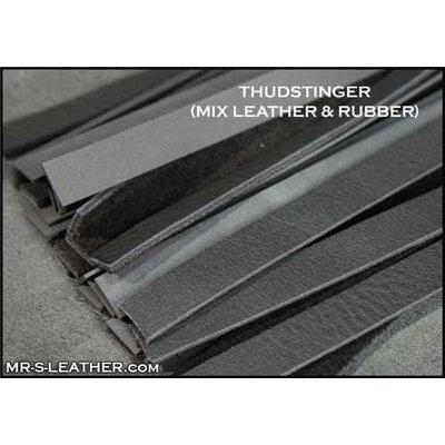 Addikt Smooth Leather Bulldog Harness: Black & White